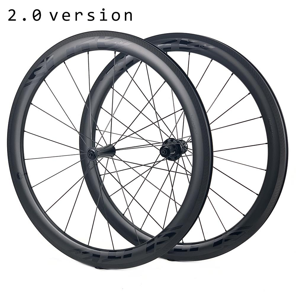 ELITEWHEELS SLT Road Carbon Wheels Aero A1 Brake RA18 Ceramic Bearing Hub Pillar 1423 Spoke Tubular Clincher Tubeless Wheelset