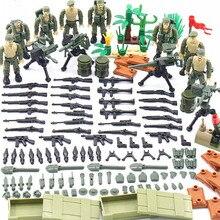 Nouveau éclairer militaire 1965 Vietnam guerre mondiale méga bataille La Drang armée chiffres arme mitrailleuse blocs de construction jouets cadeaux