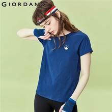 Giordano Women TShirts Quick Drying Solid Short Sleeves Tshirt Women Printed Sporty Crewneck Chemise Femme 13320207