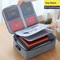 large capacity multi layer waterproof business travel document passport document bill storage bag with lock briefcase
