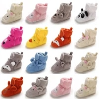 newborn baby socks shoes boy girl star toddler first walkers booties cotton comfort soft anti slip warm infant crib shoes