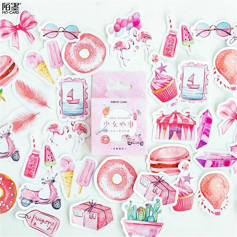 Lote de 45 unidades por caja, pegatinas de pared adhesivas de color rosa de ensueño para niñas, para habitaciones de niños, niñas y niños, decoración para el hogar