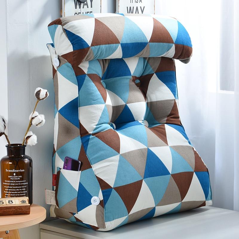 Cojín de cabeza de cama de cintura Placa de cabeza de cama bolsa suave cama almohada sofá gran cojín trasero cama tatami espalda extraíble 50C093