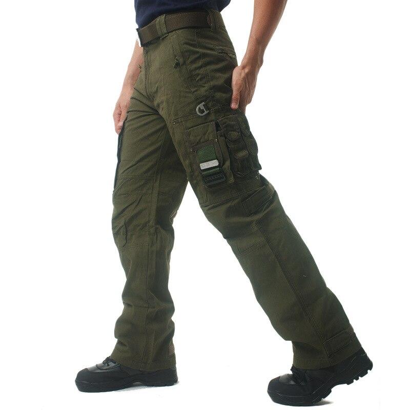 Тактический армейский Мужской камуфляж брюки для девочек размера плюс хлопковые брюки много карман на молнии в стиле милитари Стиль камуфл...