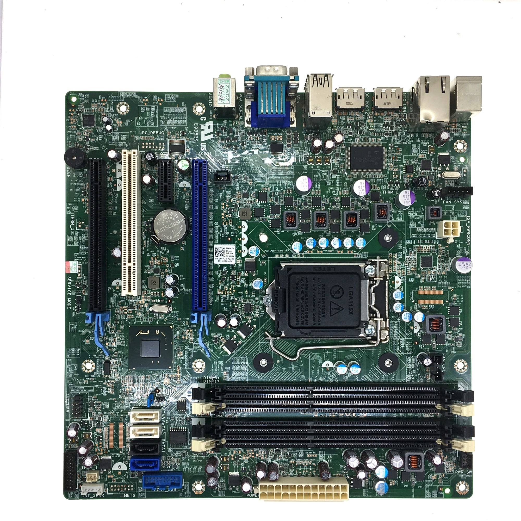Para Dell OptiPlex 9010 7010 MT DT T1650 DP/N X9M3X J32FG 4M68N 49G3W T3G9D F55GT 773VG GY6Y8 M1RNT YXT71 KV62T motherboard