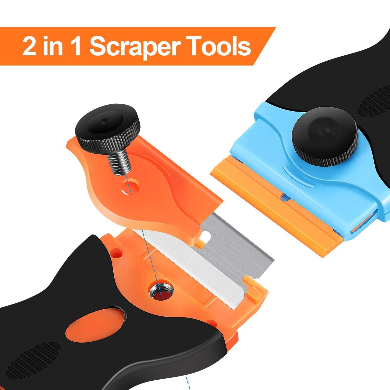 20pcs Scraper Blade Tool Auto Film Sticker Glue Ice Remover Razor Window Gap Glass Ceramic Kitchen Car Cleaner Squeegee Knife enlarge