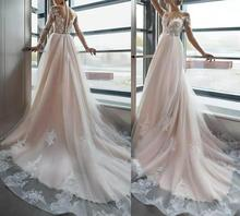 Elegant Long Sleeve Mermaid Lace Wedding Dresses Floor Length Shear See Through Back Abendkleider Maxi Bridal Gowns for Women