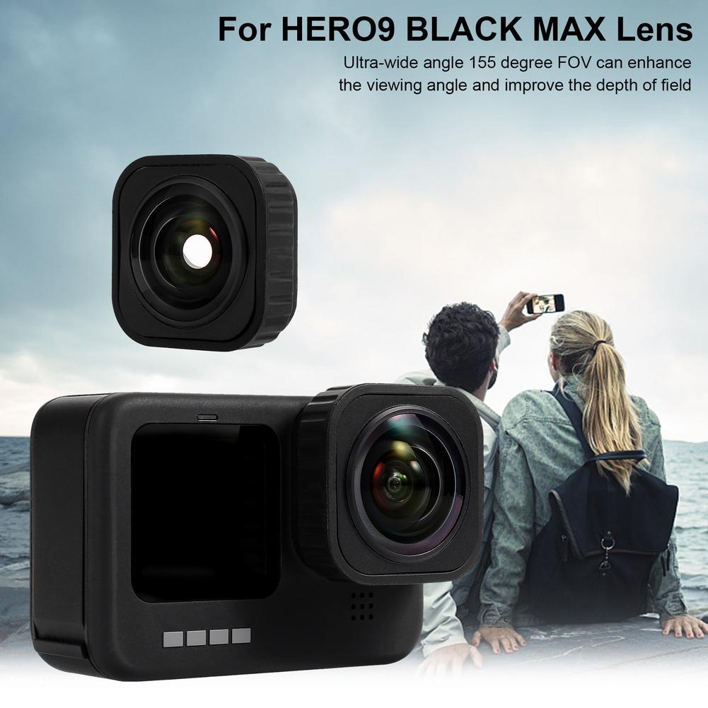 ل GoPro ماكس عدسة Mod فائقة واسعة زاوية عدسة ل GoPro HERO9 الأسود Vlog اطلاق النار عدسة كاميرات تصفية عمل كاميرا الملحقات
