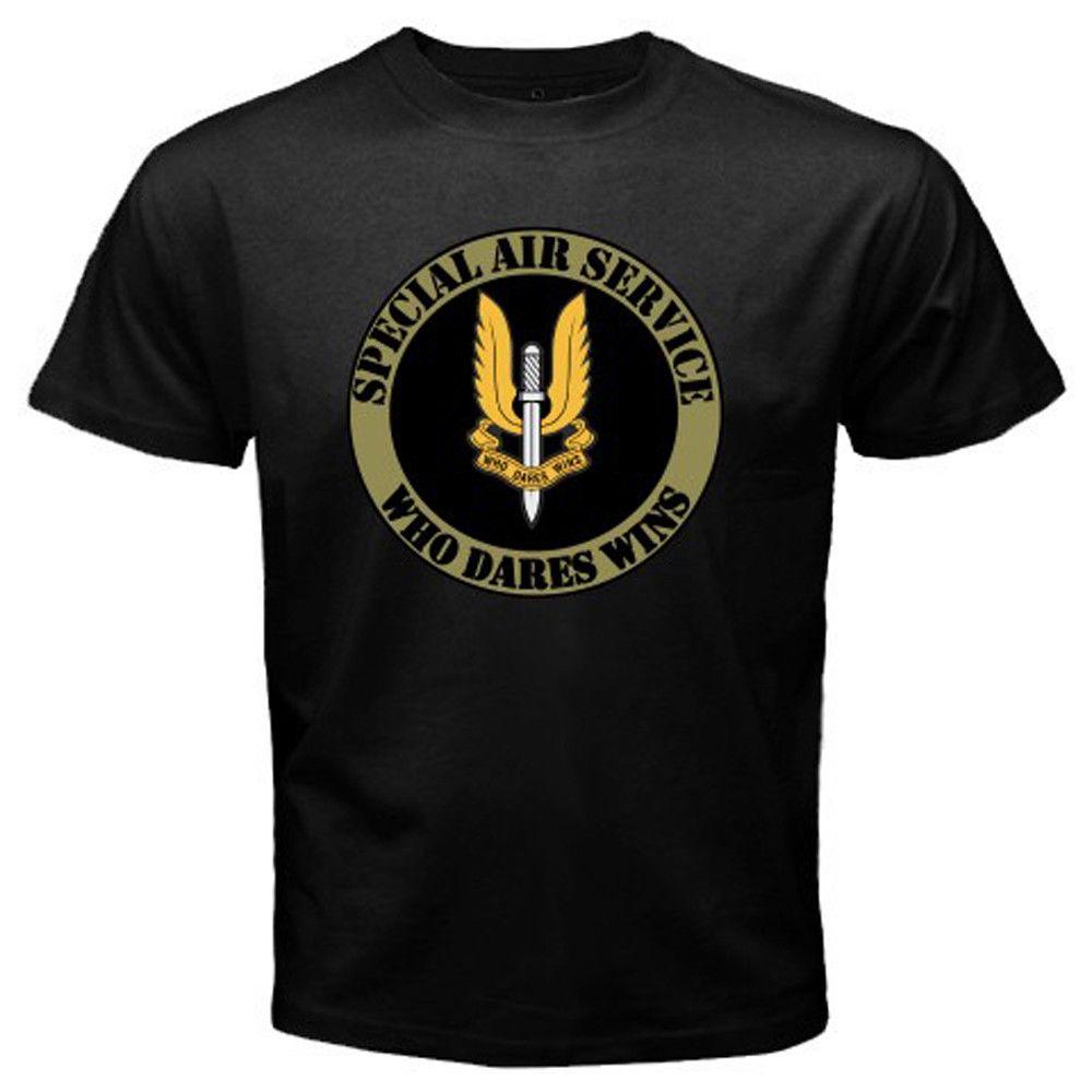 Camiseta con Logo de servicio aéreo especial para hombre de talla S-3XL