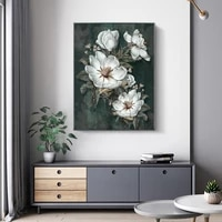 vintage magnolia flower poster home decor painting bedroom canvas art wall painting pictures for living room unframed