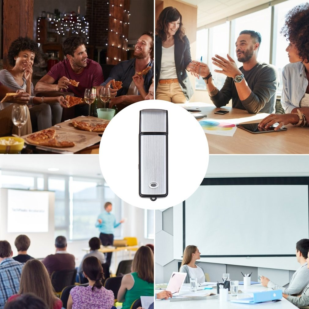 Mini USB Voice Recorder Recorder Rechargeable Digital Voice Recording Audio Recorder for PC Meeting Interview Recording enlarge