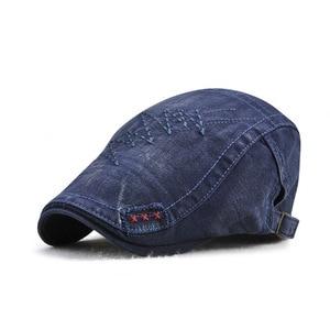 Adult spring and autumn men's cap new cotton beret visor sun hat men 13255