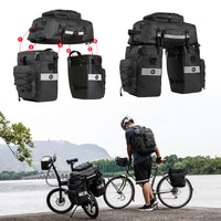 Waterproof Bicycle Shoulder Bag 3 in 1 Mutifunctional Bike Rear Bag Bike Saddle Bag Bicycle Cargo Rack Pannier Trunk Bag