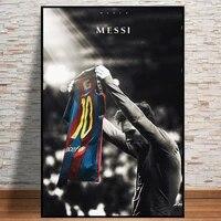 Affiche de Sport Star de Football  Lionel Messi  retro  joueur de Football  toile  peinture murale de salle  image dart  decoration de la maison  Cuadros