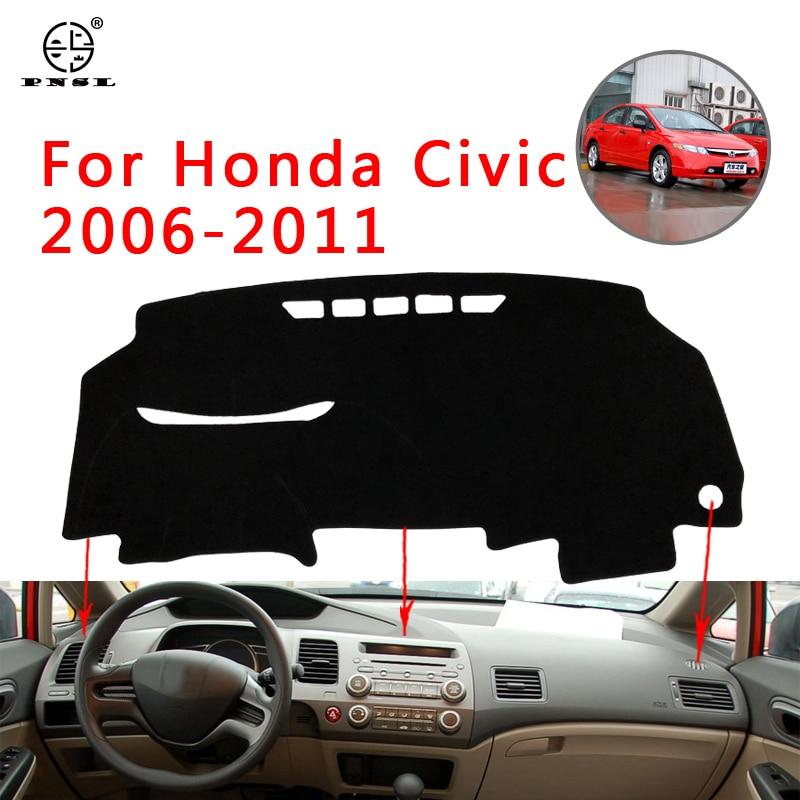 Cubierta para salpicadero de coche PNSL, alfombrilla para salpicadero para Honda Civic 2006-2011, protección solar antideslizante anti-uv