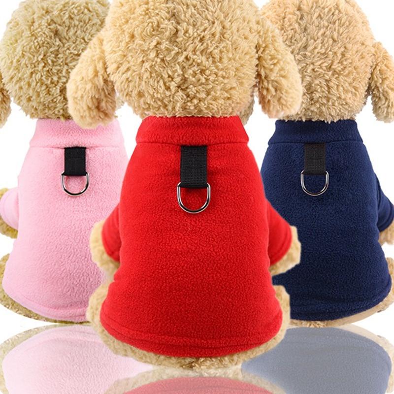 Abrigos de perro chaqueta con cuello agujero ropa para mascotas invierno mascota perro cachorro ropa para pequeños perros medios ropa