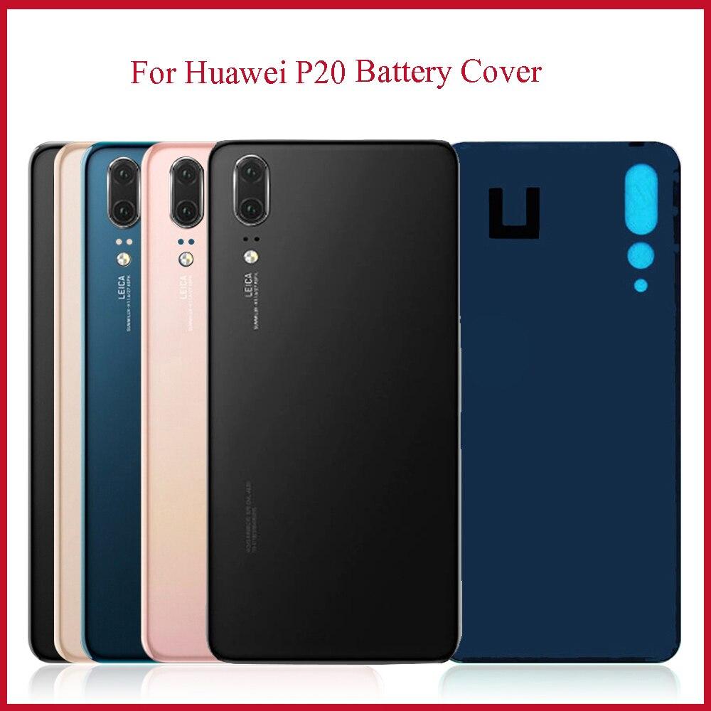 Coque arrière en verre pour Huawei P20, couvercle de batterie, panneau arrière, pièces de rechange