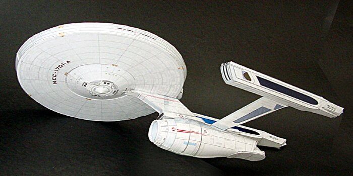 Modelo de papel 3D Star Trek NCC-1701-A modelo de dibujo HD juguete de reducción de presión Manual DIY