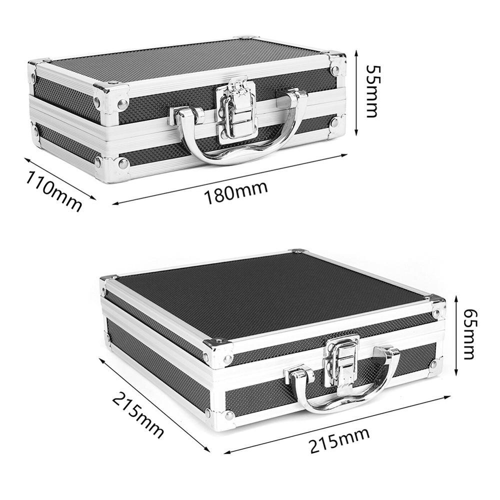 Купить с кэшбэком Portable plastic aluminum alloy toolbox Suitcase Impact resistant Safety Instrument case Storage box with Sponge Lining