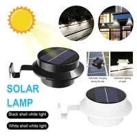 13 led outdoor fence light solar gutter lights waterproof wall lamps night utility security light for patio garden yard driveway