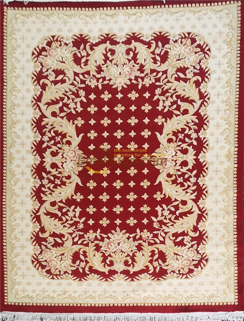 رائعة يدوية سافونيري الصوف الحرير البساط الزخرفية الحياكة الستائر مستطيل السجاد HF-2-395A 6.23x9. 51
