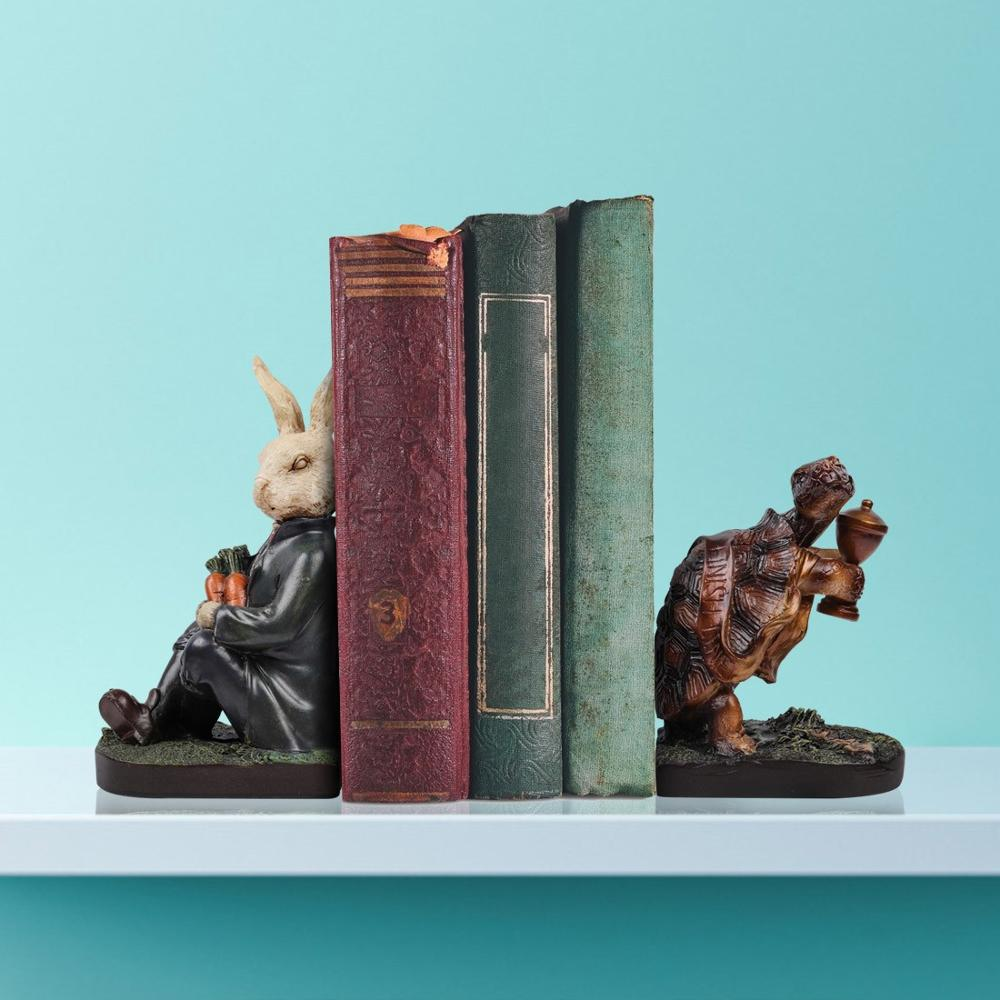 Фото - Resin Sculptural Bookends The Hare and The Tortoise Book Ends Bookends, Decorative Animal Sculptural Story Style Bookshelf our world 3 rdr the tortoise and the hare bre