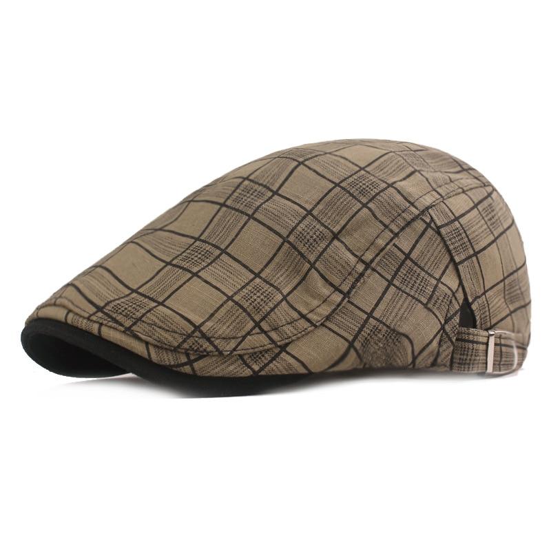 AliExpress - Fibonacci Caps Men Women Vintage Newsboy Cap Spring Summer Beret Hats Cotton Cabbie Flat Ivy Plaid Newsboy Hat