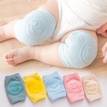 1pcs Kids Non Slip Crawling Elbow Infants Toddlers Baby Accessories Smile Knee Pads Protector Safety