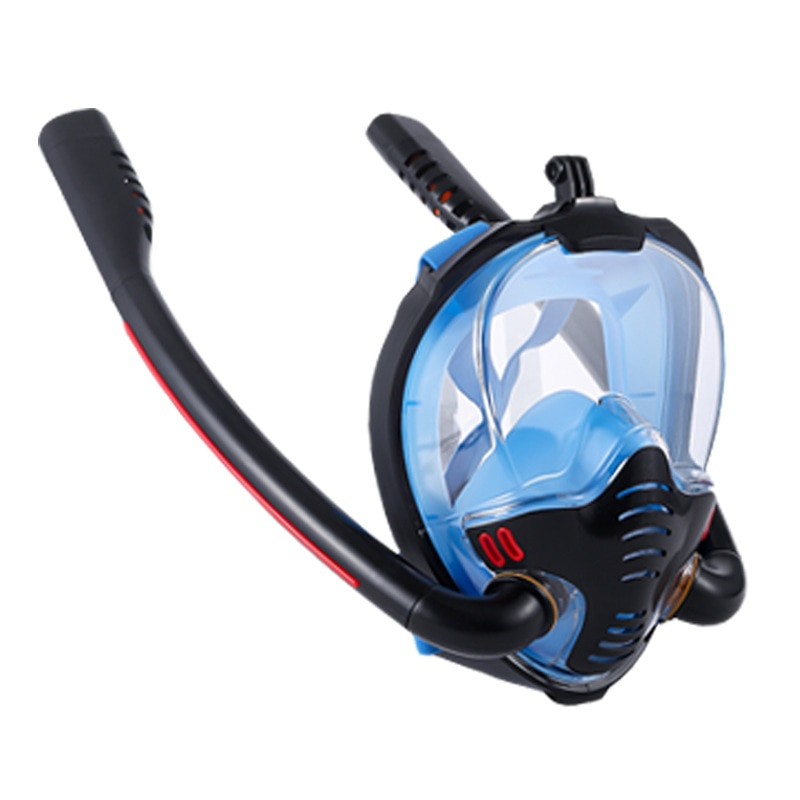 adult swimming swim diving scuba full dry snorkel snorkeling accessories professional silicone diving snorkel tube equipment Diving Mask Adult Men Women Goggles Equipment Swimming Snorkel Mask Double Breath Mascara Tube Silicone Full Dry Scuba 2021 New