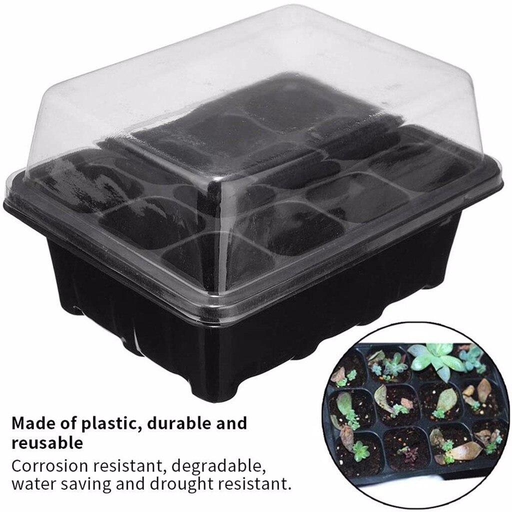 12 отверстий детские горшки семена растений коробка для выращивания лоток Вставка чехол для сеялки для посадки саженцев, теплицы, пшеницы, микрозелени