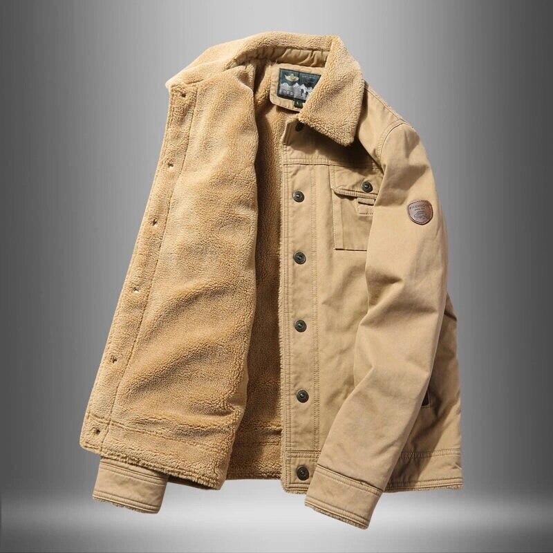 2021 6XL 5XL Высококачественная Толстая куртка, Мужская осенне-зимняя армейская Вельветовая одежда, пальто, мужская куртка, Мужская хлопковая ку...