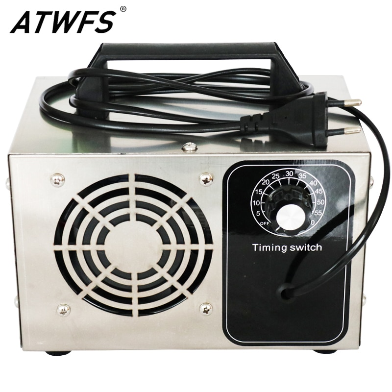 ATWFS Ozone Generator 220V 60g/48g Protable O3 Ozonator Machine Air Purifier Home Cleaner Disinfection Sterilizer Formaldehyde mini car ozone air purifier home ozone generator car air cleaner odor remover o3 generator eliminator deodorization sterilizer