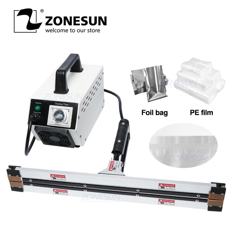 ZONESUN-آلة ختم الفراغ المحمولة ، كماشة ساخنة ، آلة تغليف قناع الفيلم المركب الألومنيوم