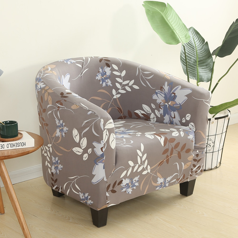 Novo elastano elástico banheira cadeira cobre cor sólida lazer estiramento banheira poltrona assento capa protector lavável slipcovers