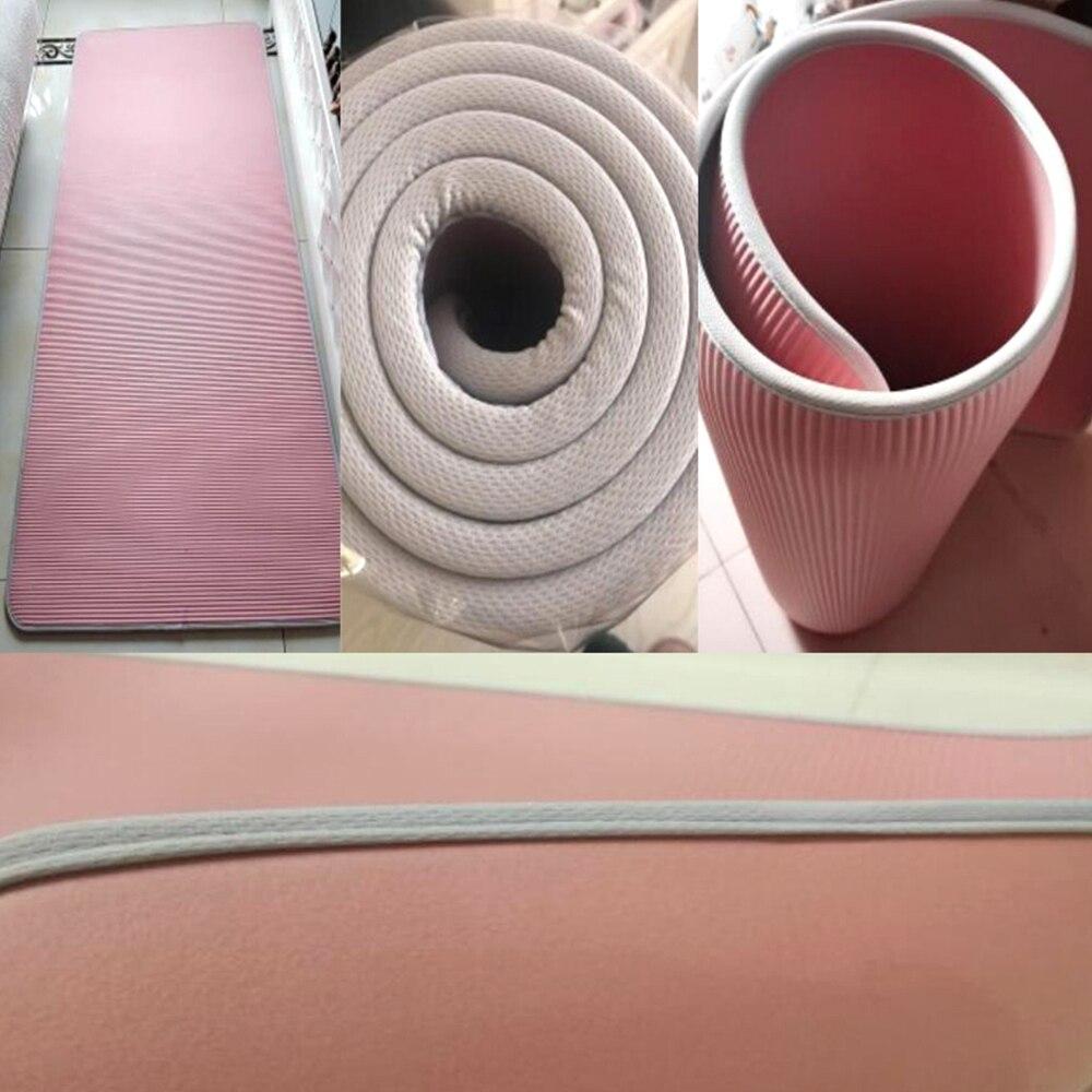 Купить с кэшбэком 15mm Yoga Mat Carpet  Non-slip Sports Tear Resistant NBR Fitness Mats Sports Gym Pilates Pads With Yoga Bag & Strap  XA111Y