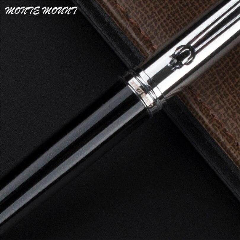 MONTE MOUNT, роскошная ручка из углеродного волокна, материал, кристальная ручка для письма, гелевая шариковая ручка, роскошная Шариковая ручка д...