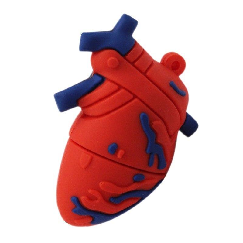 Creative Heart Usb Flash Drive Brain Pen Drive 256GB 2.0 Flash Memory Card 512GB Pendrive 128G Memory Stick U Disk Free Shipping