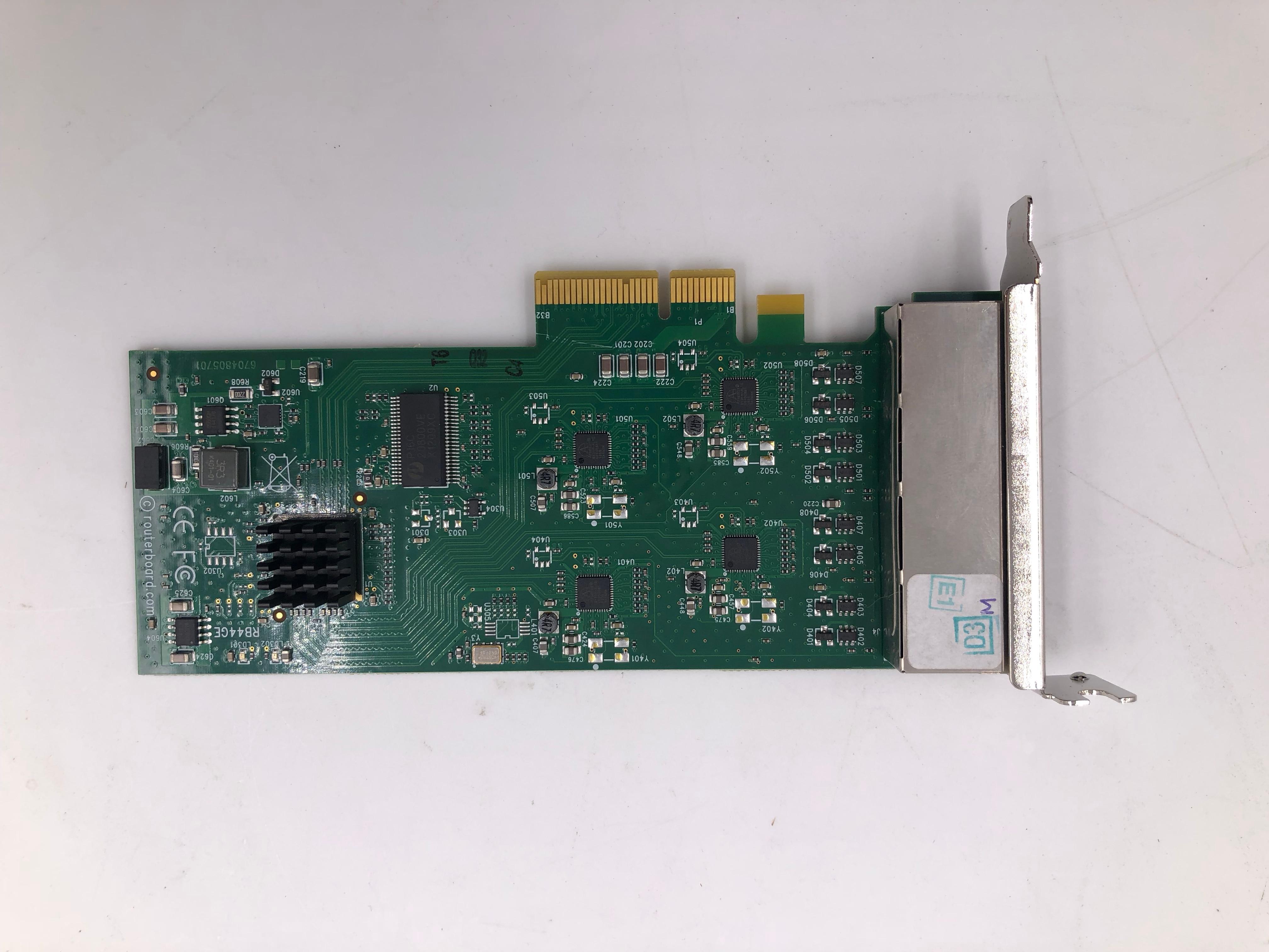 RB44Ge Mikrotik RouterBOARD RB44G PCIe 4-портовый гигабитный Ethernet адаптер