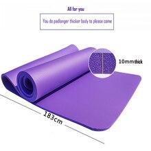 Yoga Mat NBR 1830*610*10mm masaj spor paspaslar halı havlu yatak egzersiz denge acupressure oyun Yoga spor salonu ekipmanları