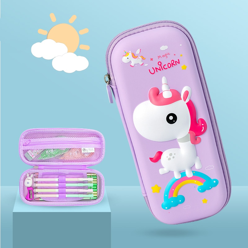 Colorful Pencil Cases for Girls Large-capacity Waterproof Pen Case Three-dimensional Cartoon Animal