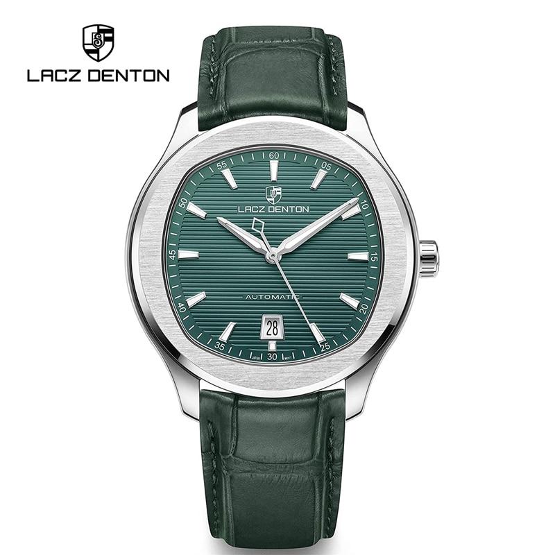 LACZ دنتون ساعات رجالية ساعة أوتوماتيكية الرجال ساعات آلية 2021 العلامة التجارية الفاخرة 100 متر مقاوم للماء الأعمال الرياضة Reloj Hombre