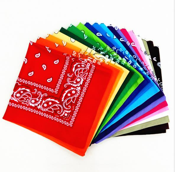 Недорогой винтажный квадратный носовой платок с геометрическим принтом хлопковый головной платок шейный шарф платок на запястье карманно...