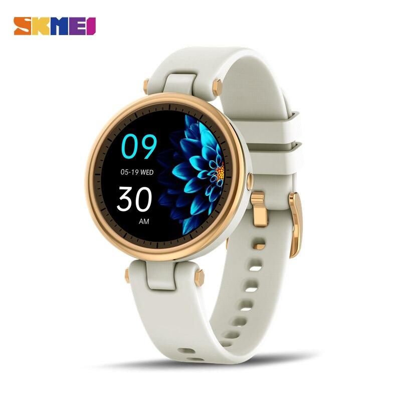 SKMEI QR01 ساعة ذكيّة بشاشة لمس أنثى حيض دورة تذكير ضغط الدم رصد معدل ضربات القلب relogio feminino Smart