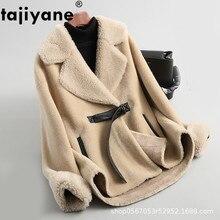 Wolle Jacke Herbst Winter Mantel Frauen Kleidung 2020 Streetwear Real Pelzmantel Koreanische Vintage Schafe Lammfell Abrigo Mujer ZT3325