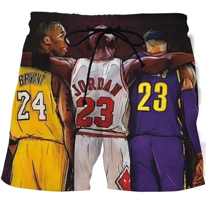 Модные новые летние спортивные шорты с 3D-принтом пляжные шорты быстросохнущие брюки купальник Мужские повседневные шорты для бега