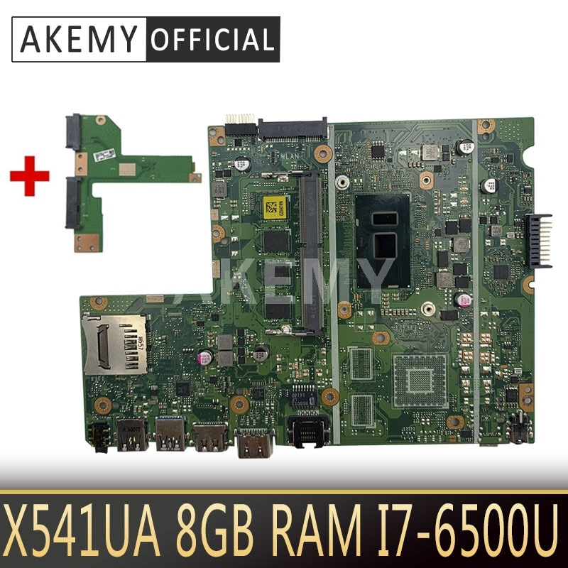 Akemy جديد! ل Asus X541UA X541UAK X541UVK X541UJ X541UV X541U F541U R541U اللوحة اللوحة المحمول W/ 8GB RAM I7-6500U