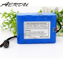 AERDU 3S5P 12V 12.5Ah de gran capacidad 12500mAh 11,1 V 12,6 V de litio 18650 pack de batería recargable con BMS luz LED de encendido para lámpara