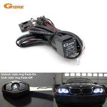 Kit de arnés de cables de relé para BMW Angel Eyes Halo Rings LED o CCFL relé Arnés con características de desvanecimiento