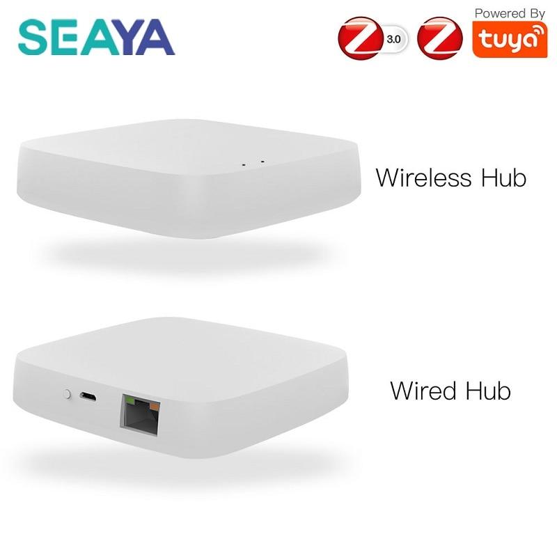 SEAYA Tuya زيجبي الذكية بوابة محور المنزل الذكي جسر الحياة الذكية اللاسلكية تحكم عن بعد يعمل مع أليكسا جوجل الرئيسية