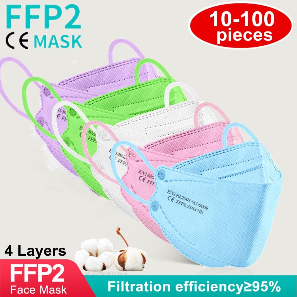 Mascarilla ffp2 ce para adultos, máscara de belleza y belleza, protección eficiente,...